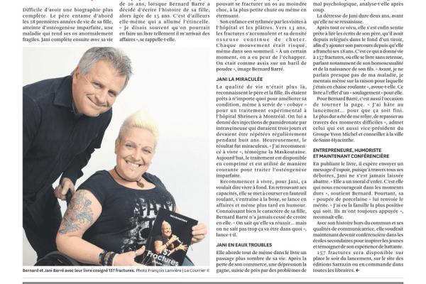 Lancement du livre 157 Fractures par Jani Barré et Bernard Barré aux Éditions Sarrazin